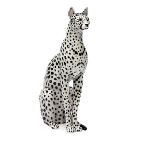 Scultura Gatto Ceramica Leopardato_ArchiMode
